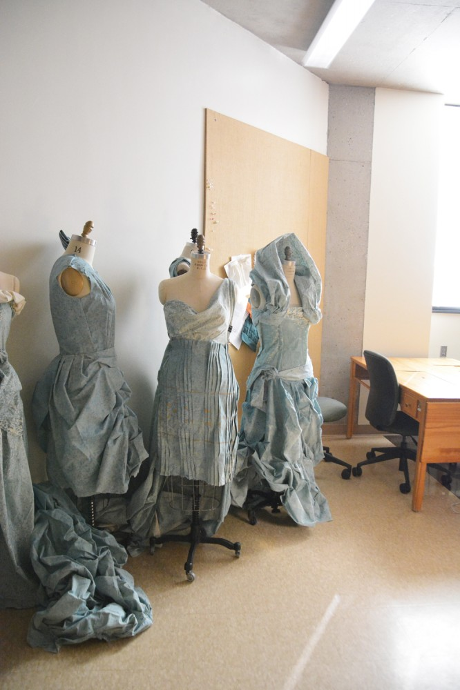 HOLLAND LIND | THE SPECTRUM NDSU sewing students have produced many beautiful garments in their lab.