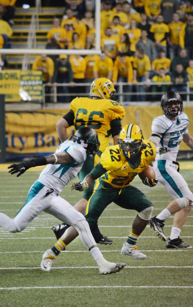 STOCK PHOTO | THE SPECTRUM Former NDSU runningback Sam Ojuri is chasing his NFL dream. Ojuri was back in Fargo Wednesday for his pro day.