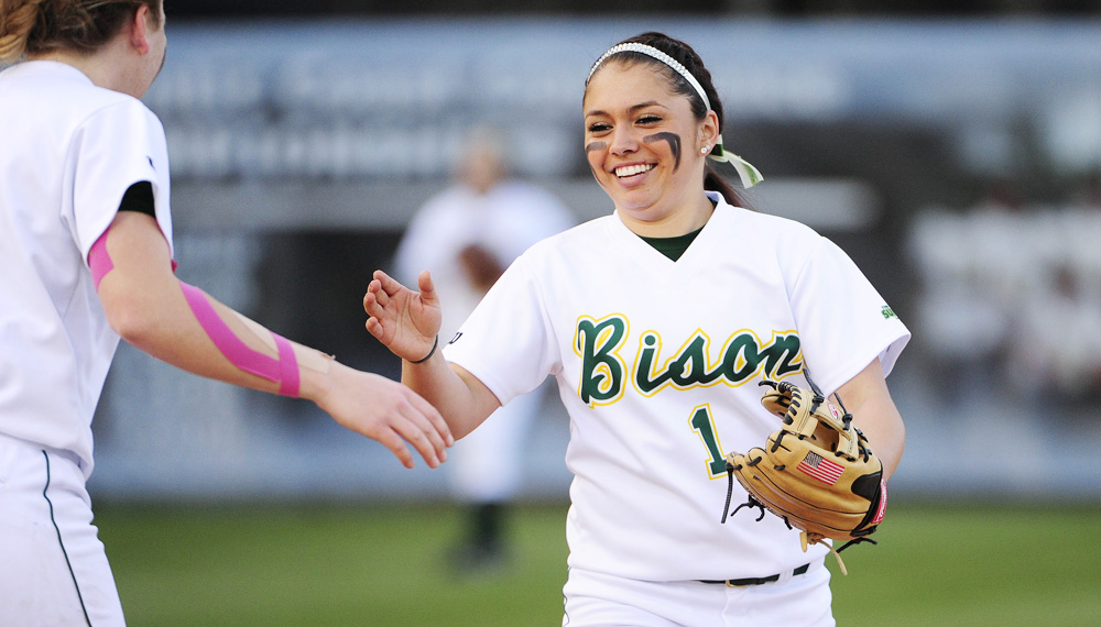PHOTO COURTESY | NDSU ATHLETIC MEDIA RELATIONS Cheyenne Garcia has transitioned her high school success in California to the NDSU softball team, leading the team in homeruns.
