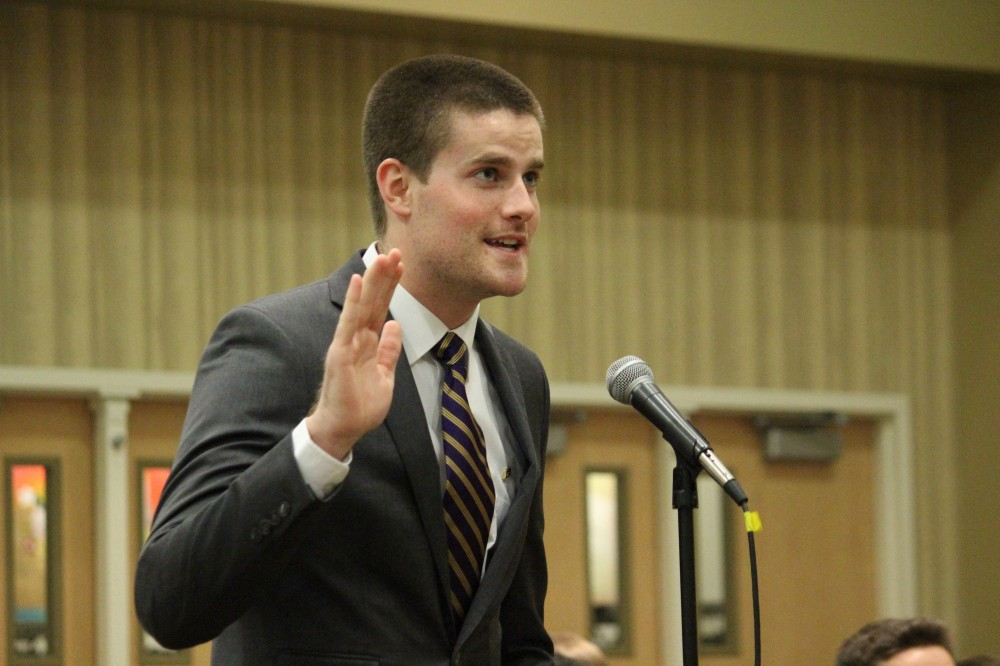 FILE PHOTO | THE SPECTRUM Student body president Eric McDaniel acts as tie breaker for the 14-member SFAB, set to meet Wednesday to vote on fee increase proposals starting in fall 2016.