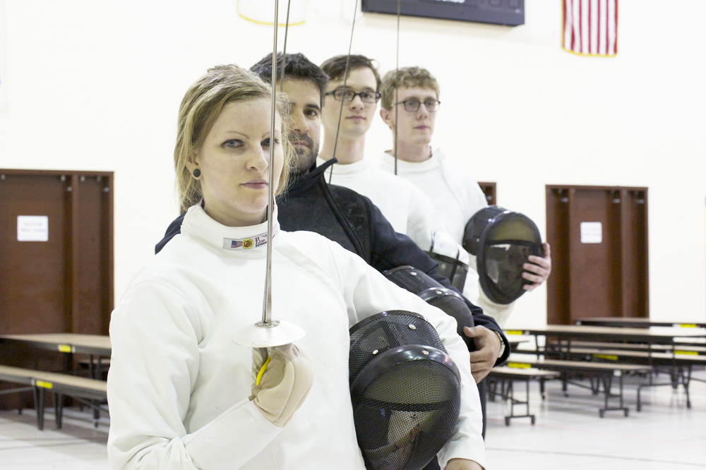 JOSEPH RAVITS | THE SPECTRUM Members of the NDSU Fencing Club are at odds with a policy that prohibits them from practicing their sport on campus.