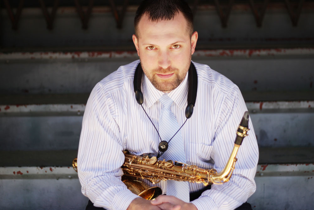 PHOTO COURTESY | JAMES SPURLIN James Spurlin will showcase a variety of sounds on his saxophone with some backing performers on Mother's Day, May 11, in Beckwith Recital Hall.