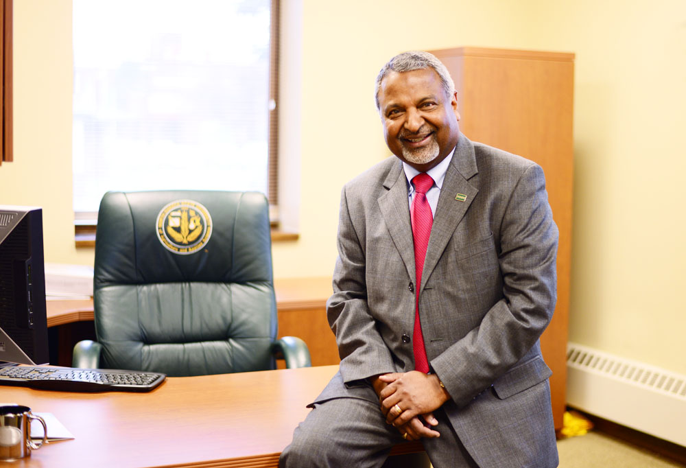 MATAYA ARMSTRONG | THE SPECTRUM Prakash Mathew has been at NDSU for over 40 years and has held many different roles: graduate student then assistant, hall director, director of residence life and dean of student life. Mathew celebrated his retirement on May 2.