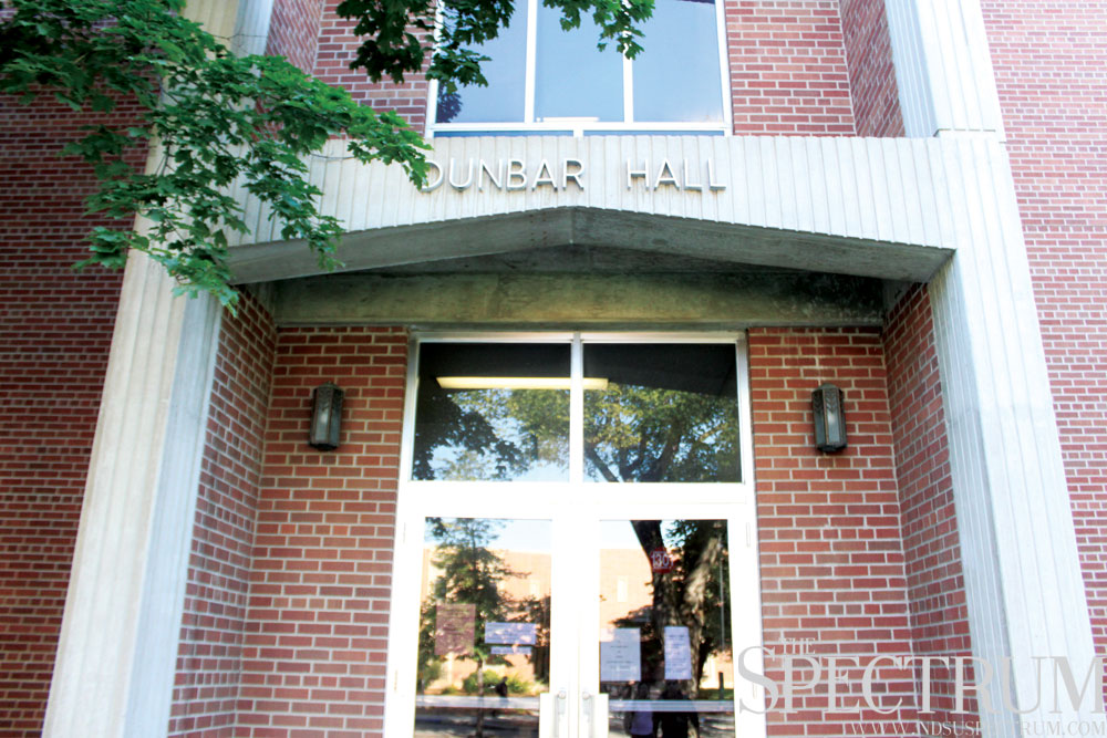 BENJAMIN NORMAN | THE SPECTRUM If approved by state Legislator and Gov. Dalrymple, Dunbar Hall will be one of a handful of building to be updated around campus.