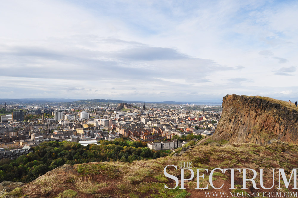 LINDA NORLAND | THE SPECTRUM An overlooking view of one of the many cities Northern England, Edinburgh.