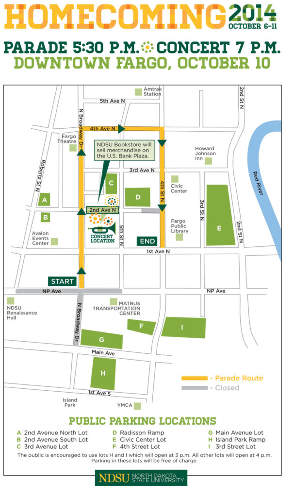 COURTESY OF   NDSU The Homecoming parade returns downtown after a 32-year hiatus.