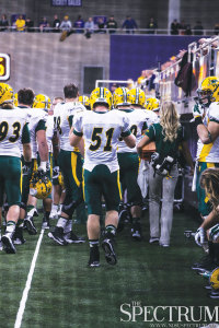 TIFFANY SWANSON | THE SPECTRUM James Fisher (51) has taken over the quiet position of long snapper and has performed well for the Bison.