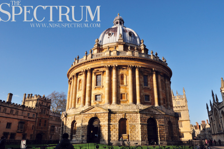 LINDA NORLAND | THE SPECTRUM The Radcliffe Camera acts as a beautiful study space for students.