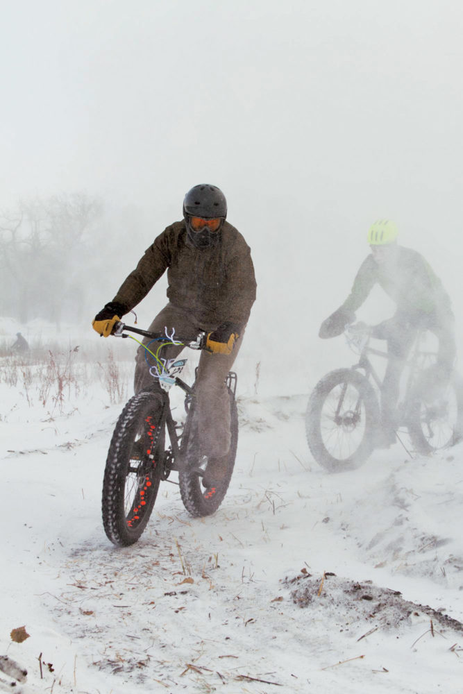 Last year's B-B-BRRR Winter Classic Bike Race/Ride was subjected to a ground blizzard.