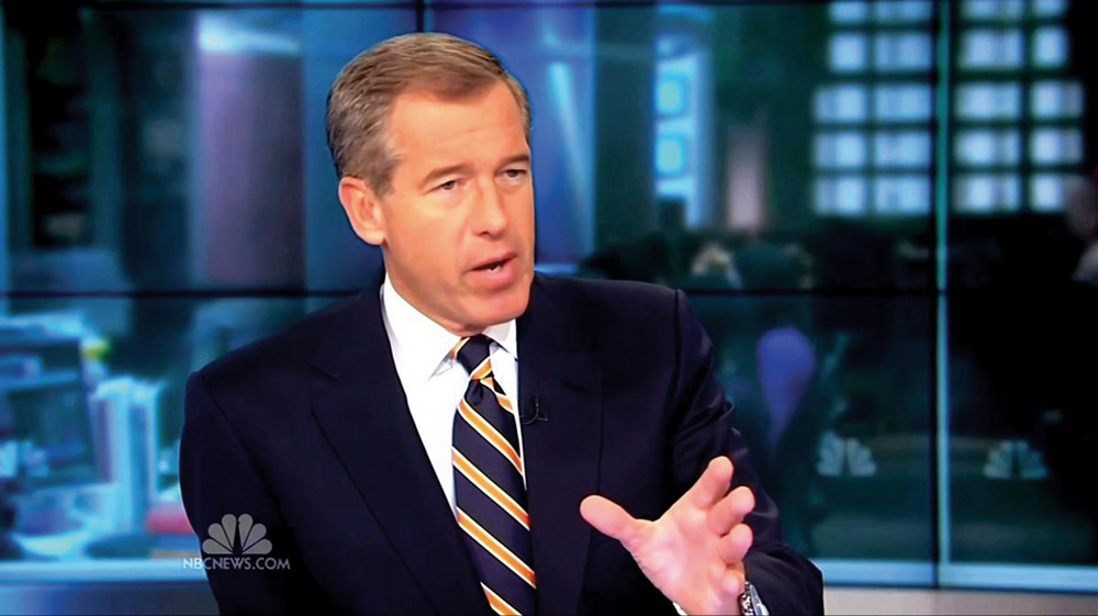NBCNEWS.COM | PHOTO COURTESY NBC news anchor, Brian Williams, has been at the center of controversy regarding embellishment in his reporting.