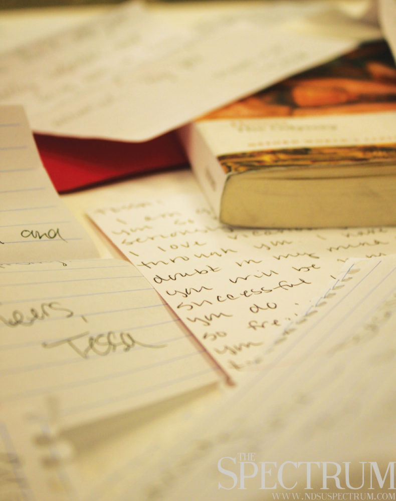 GABBY HARTZE | THE SPECTRUM The sentiment behind handwritten letters drives the Write a Letter Club.