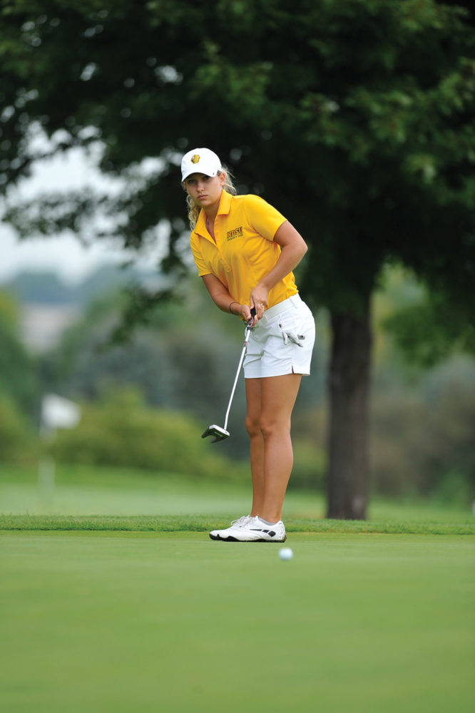 DENNIS HUBBARD | PHOTO COURTESY Freshman Natalie Roth is already the Bison's No. 1 golfer.