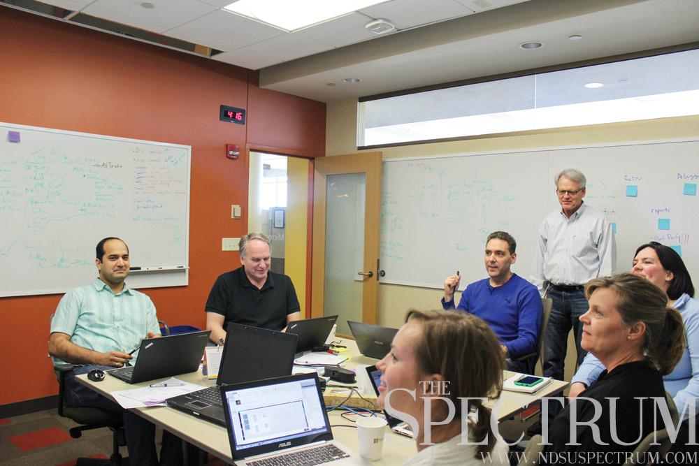 ERICA NITSCHKE | THE SPECTRUM Don Morton, site leader at Fargo's Microsoft campus, said he has 20-30 job openings.