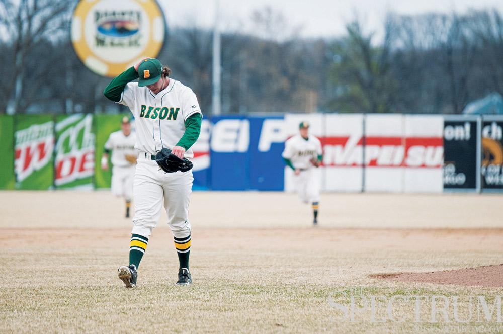 FILE PHOTO   THE SPECTRUM North Dakota State baseball has struggled to start the season, despite starting its home schedule.