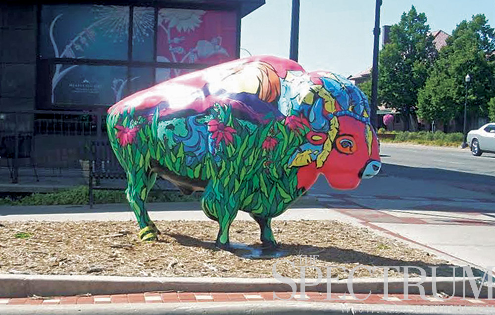 FILE PHOTO | THE SPECTRUM The third annual Art Marathon takes participants all over Fargo-Moorhead, including to Sunny, the public art bison recently restored on south Broadway.
