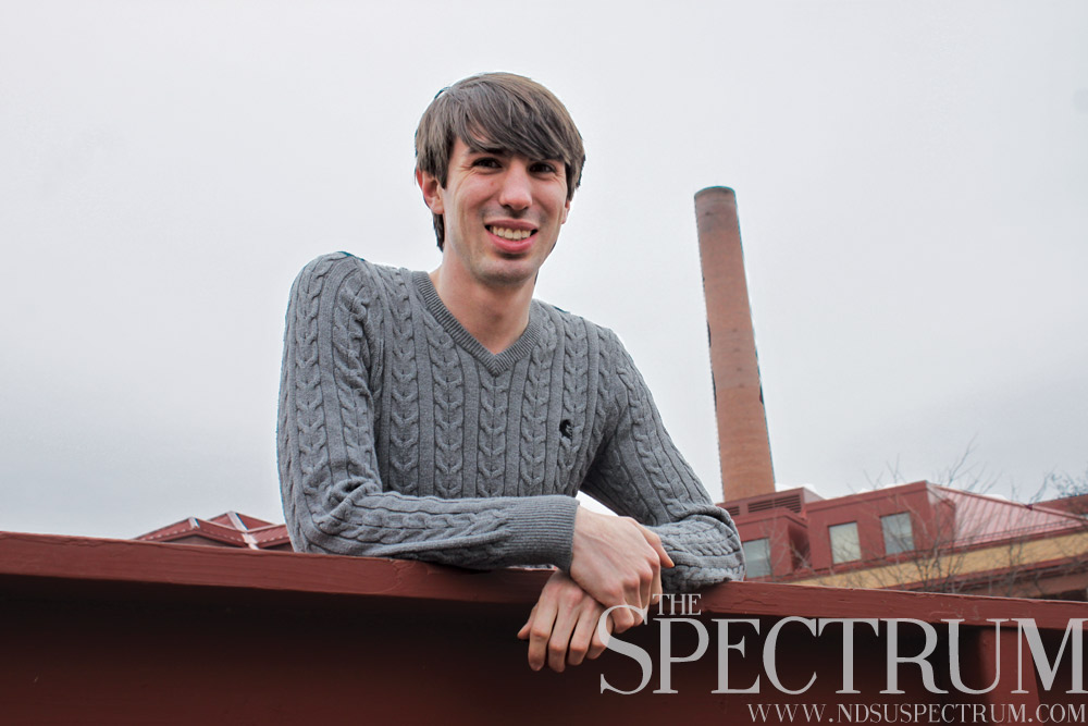 GABBY HARTZE | THE SPECTRUM Sunny Branick, a graduate student, said like many LGBT members in North Dakota, he has faced discrimination based on his sexual orientation.