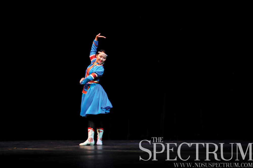 LINDA NORLAND | THE SPECTRUM Amy Arigun Ganbat won the judges' choice with her traditional Mongolian dance.