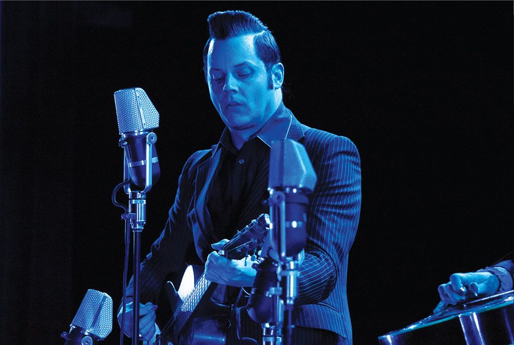 TIDAL | PHOTO COURTESY Rock musician Jack White performed a stripped down acoustic set in a surprise concert Sunday at the Fargo Theatre.