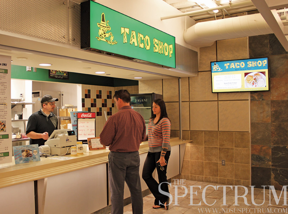 GABBY HARTZE | THE SPECTRUM The Taco Shop in the Union's lower level was open for its last day Thursday. Dining Services is looking for a replacement restaurant.