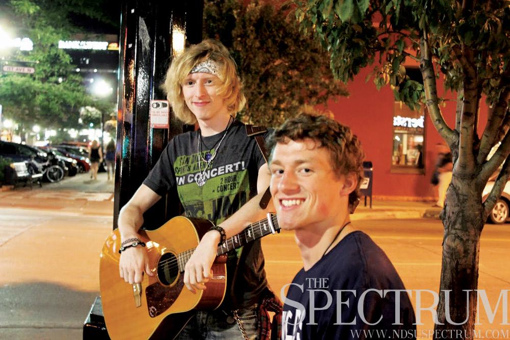 street musicians downtown Fargo