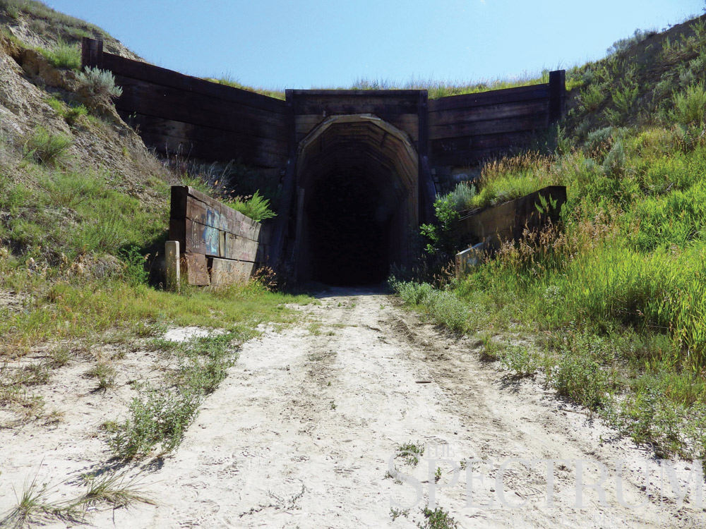 the longest train tunnel in north dakota