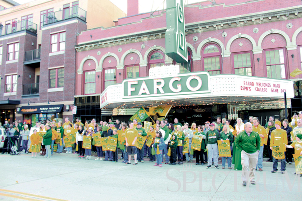 people outside Fargo theatre