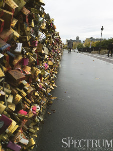 RIO BERGH | THE SPECTRUM A bridge full of love locks near the Notre Dame Cathedral.