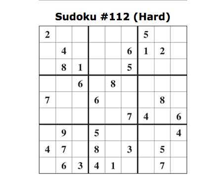 sudoku hard jan 25