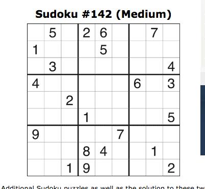 medium sudoku jan 21