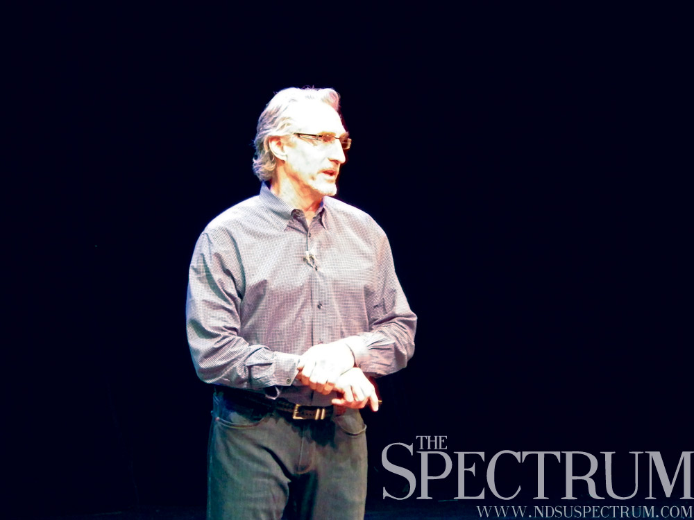 JACK DURA | THE SPECTRUM Kilbourne Group founder and chairman Doug Burgum spoke Thursday at The Stage at Island Park, announcing his campaign for North Dakota governor.