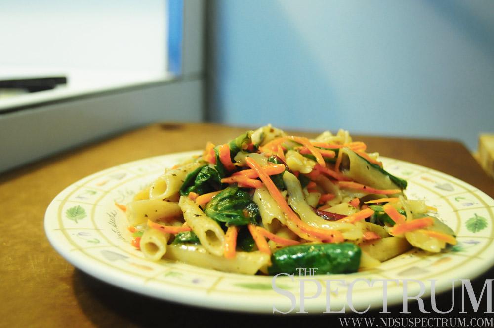 a plate of pretty pasta