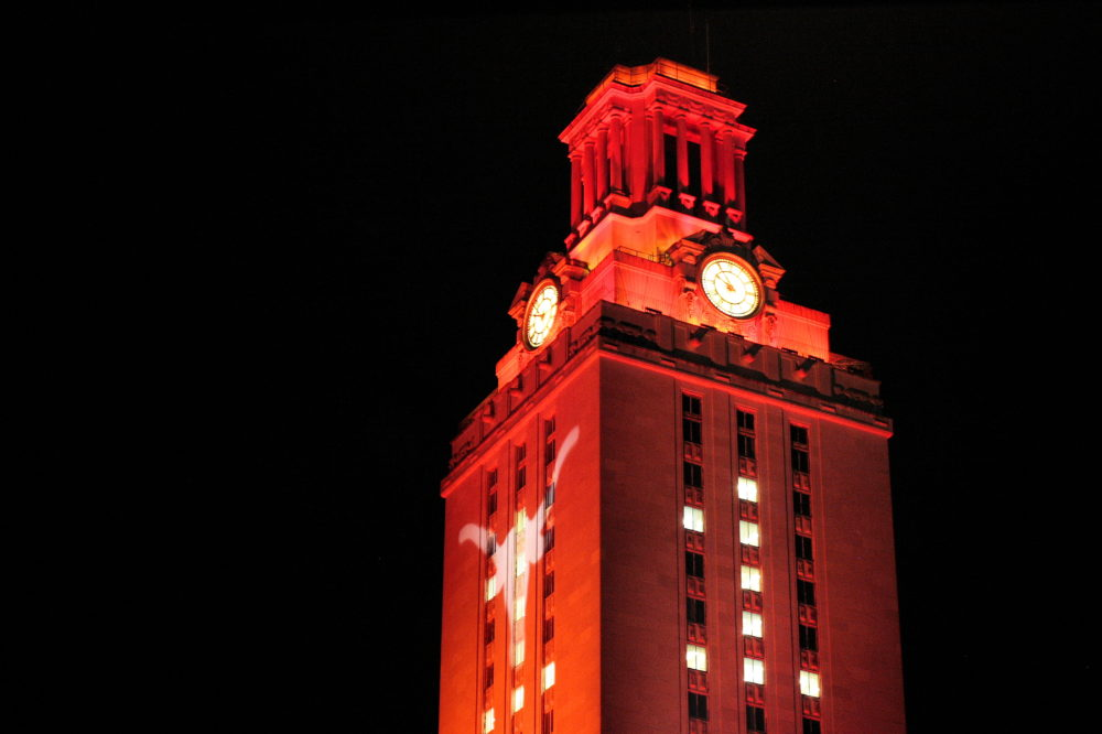 "FLICKR.COM Phil Roeder | PHOTO COURTESY A clock tower at the University of Texas at Austin, a campus where ""campus carry"" is soon to be implemented."