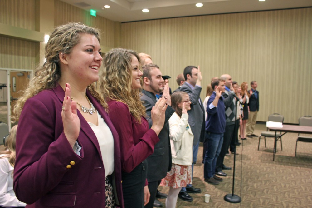 File Photo | The Spectrum Student senators are sworn in after 2014 student body elections.