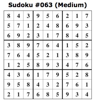 medium sudoku answers