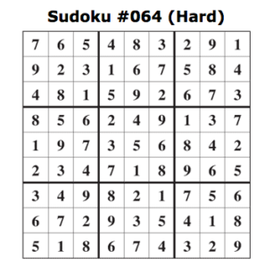 hard sudoku answers