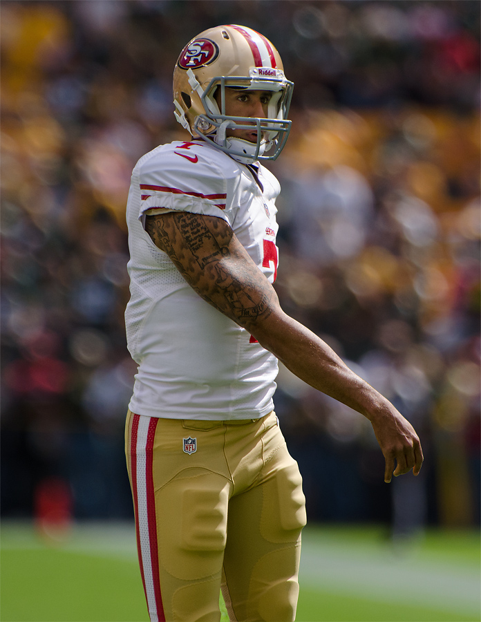 FLICKR.COM Mike Morbeck | PHOTO COURTESY Colin Kaepernick's protest caused national outcry.