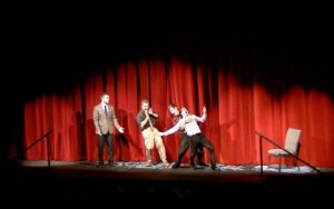 JOESPH RAVITS PHOTOGRAPHY | PHOTO COURTESY Members of TBD Improv perform during their Homecoming Show.