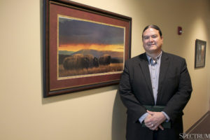 PHOTO COURTESY Rio Bergh | The Spectrum | Dr. Donald Warne is the chair of NDSU's Department of Public Health and a member of the Oglala Lakota tribe.