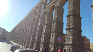 PHOTO COURTESY Tori Stefonowicz | Segovia's aqueduct originally constructed by the Romans in the first century is held together by forces in equilibrium, with no mortar between the stones