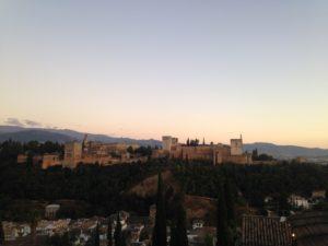 PHOTO COURTESY JORDYN MESKAN | The Alhambra seen from Mirador San Nicolás against the evening sky.