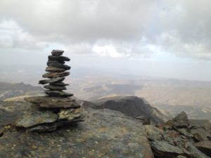 PHOTO COURTESY Jordyn Meskan | A rock cairn marks the hiking trail to Veleta's peak.