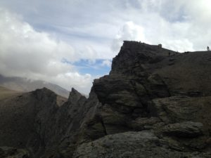 PHOTO COURTESY Jordyn Meskan | Hikers and bikers struggle to the top of Veleta, Spain's fourth tallest peak.