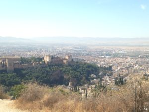 PHOTO COURTESY Jordyn Meskan | View of the Alhambra, a Spanish fortress, and Granada from San Miguel Alto, a scenic overlook.