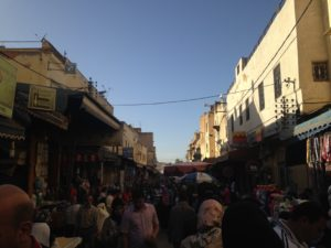 PHOTO COURTESY Jordyn Meskan | The medina market crowded with people perusing the wares.