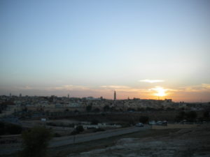 PHOTO COURTESY Jordyn Meskan | Sunset behind the medina and minarets of Meknes, Morocco.