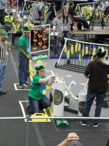 EMILY DOCKTER The Spectrum | Middle and high school students descended on SHAC to compete for the BEST robots