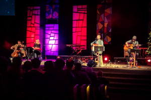 EMILY DOCKTER The Spectrum | NDSU alumni Nick Hall performed the Reason Christmas at the Bethel Church in South Fargo Dec. 3