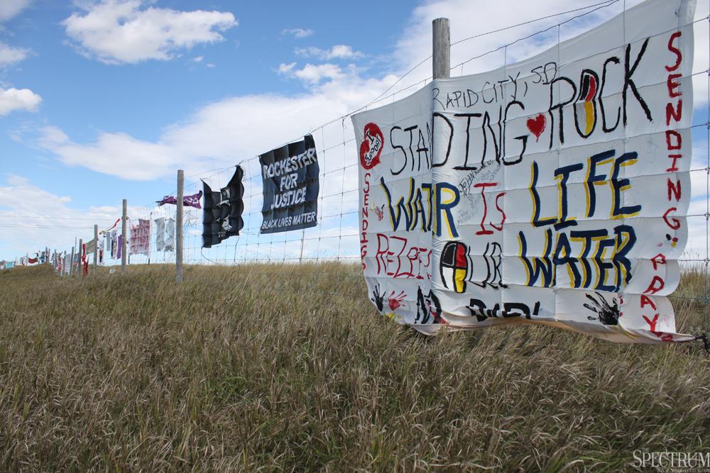 FILE PHOTO | THE SPECTRUM The Dakota Access Pipeline clouded news about North Dakota in 2016.