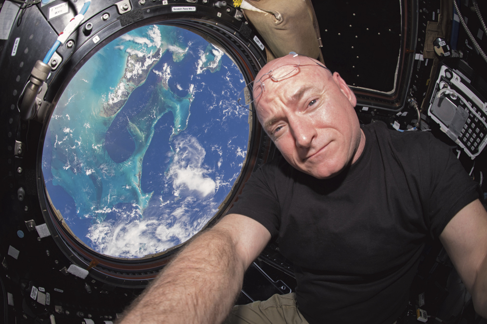 WIKIMEDIA COMMONS | PHOTO COURTESY Former International Space Station Commander Scott Kelly snaps a selfie on the ISS.